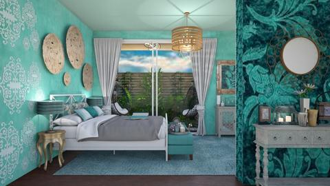 Turquoise peace - Bedroom - by Nina Colin