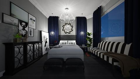 art deco bedroom2 - Bedroom  - by oanav