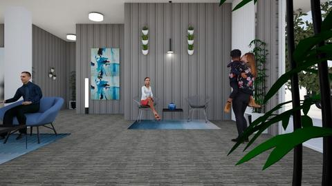 Lobby design by Yaara 4  - by yaara shemesh