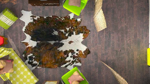 RR23_4 Retro Chocolate Lime - Retro - Living room  - by WaxButterfly
