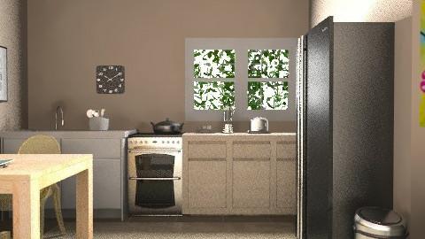 kitchen - Glamour - Kitchen  - by anastefaniac