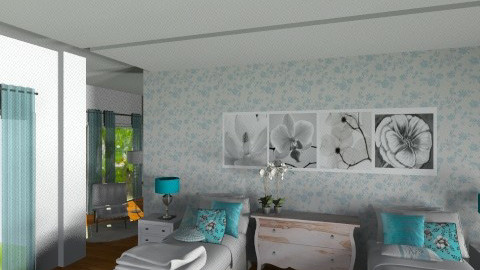 Hotel Bedroom - Glamour - Bedroom - by Milagros Albini