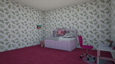 pink paradise   - Bedroom  - by camille_thellama