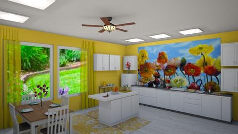 cheery kitchen - Kitchen  - by KarJef