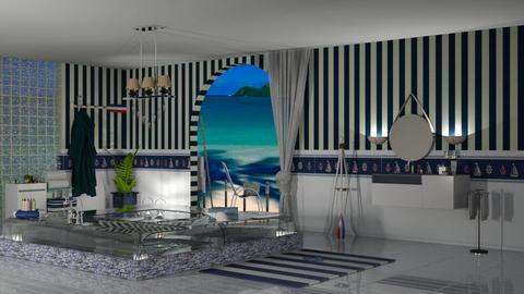 nautical bath - Bathroom  - by nat mi