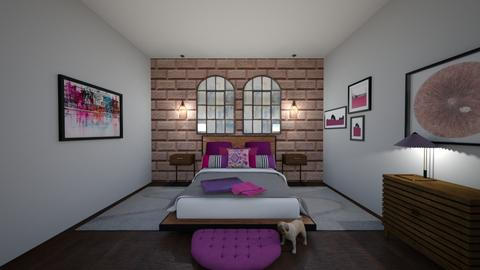 PurpleBedroom - Bedroom  - by MyDesignIdeas