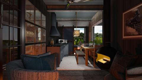 Container home - Living room  - by Sue Bonstra