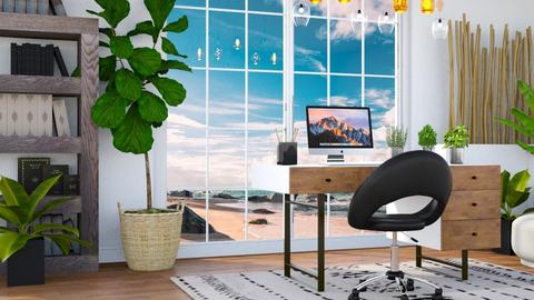 Beach Office - Modern - Office  - by millerfam