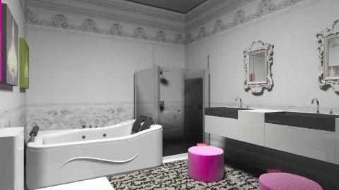 House 1 bathroom  - Glamour - Bathroom  - by chrissymorrgan