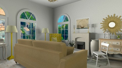 Country living room - Country - Living room  - by martinabb
