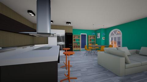 Seattle - Rustic - Living room  - by Jacqueline De la Guia