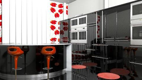 Rosy Black - Modern - Kitchen  - by APInteriors