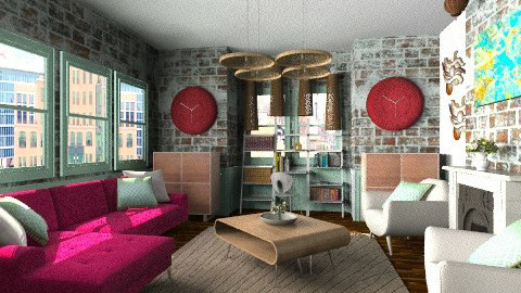 the old brick apartment  - Classic - Living room  - by BriaFaith