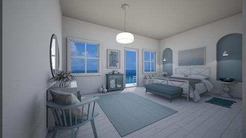 beach inspired bedroom - Bedroom  - by sano14