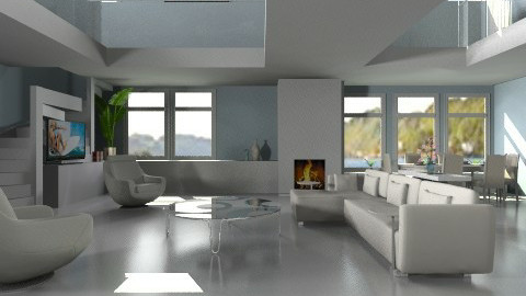 sky blue - Living room  - by auntiehelen