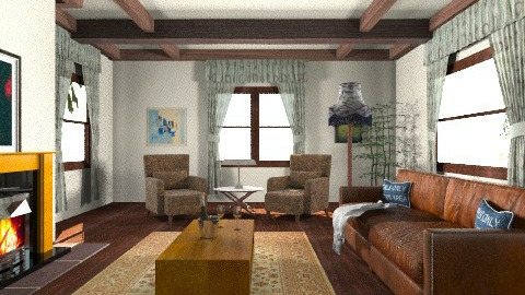 Cottage  - Rustic - Living room  - by yourjieee
