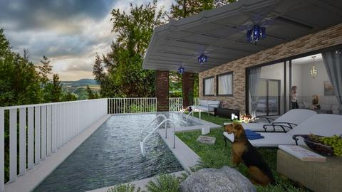 terrace and pool - by ilcsi1860