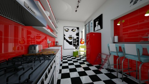 rock and roll - Glamour - Kitchen  - by donella