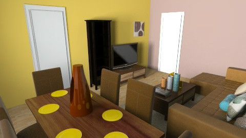 warm colours - Retro - Living room  - by MonicaCroce