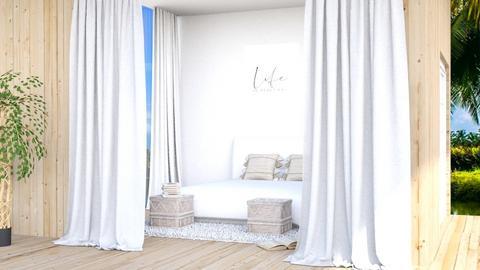 summer bedroom - Bedroom  - by iope
