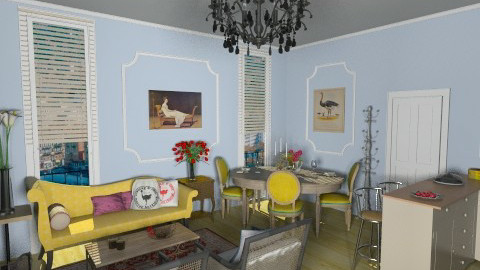 French Style 25m2  - Glamour - Living room  - by giulygi