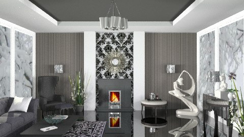 Black and White - Classic - Living room  - by deepthinker