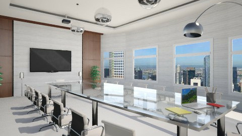 SALA DE REUNIAO - Global - Office - by Cassiane Pires