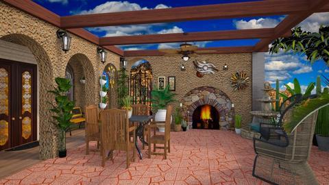 patio - by Christine Keller