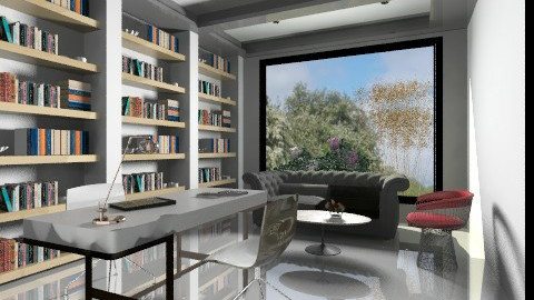 Private Library - Modern - Office  - by 3rdfloor