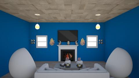 Egg Room - Modern - Living room  - by Charginghawks