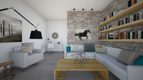 Urban Living Area - Living room - by Natalie T