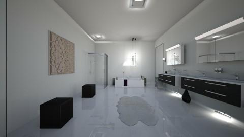 modern bathroom  - by lana alba