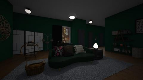 Green At Night - Living room  - by 00l0ps