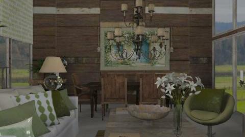 Verde - Rustic - Living room  - by du321