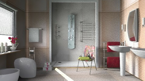 peach br2 - Minimal - Bathroom - by milyca8
