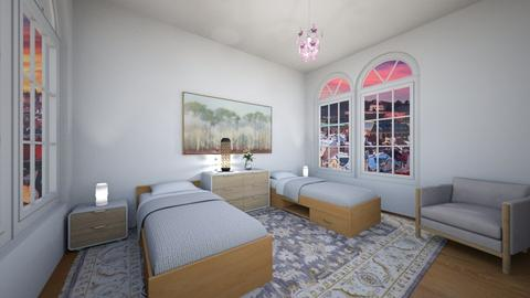 Two beds - Classic - Bedroom  - by Twerka