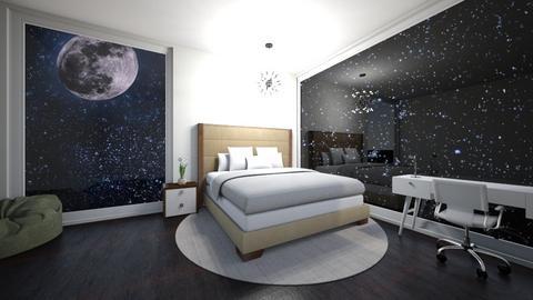 starry night - Bedroom  - by ashpashly