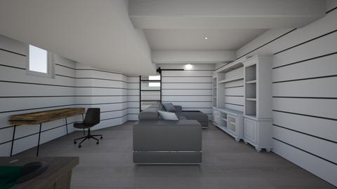 Basement Draft 8 - Living room  - by apotter3