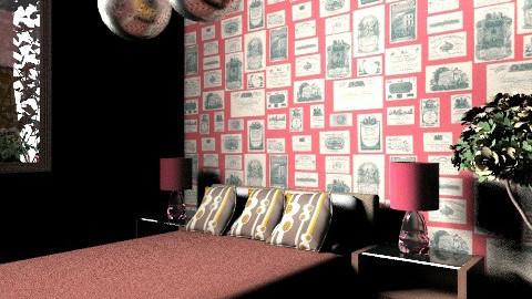 red bedroom - Bedroom - by mariannee1