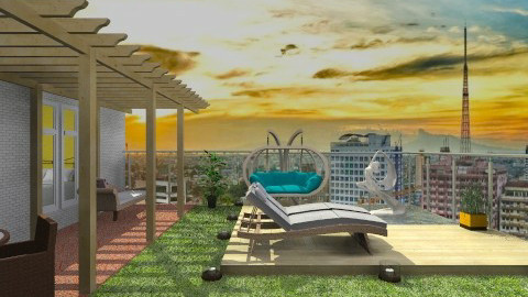 rooftop fish pod - Classic - Garden  - by Veny Mully