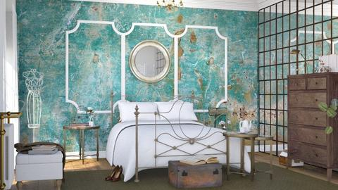 Turquoise Metal - Bedroom  - by ArtHousedeco