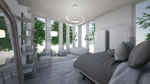 white - Bedroom  - by kazx