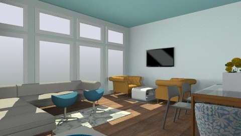 kitchen and living room - by Claire6