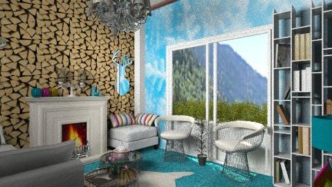 winter living room 3 - Rustic - Living room - by nag26