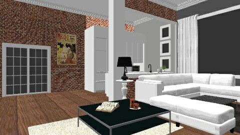 Huge modern livingroom - Living room - by scarletthardywork