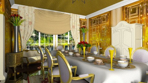 Golden dining room - Classic - Dining room - by wiljun
