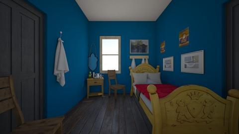 Van gough bedroom - Rustic - Bedroom  - by isabelledesigns