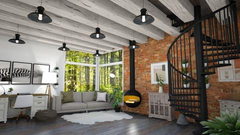 Contest__Rustic Office - Office  - by Coco_Iover