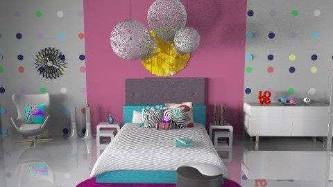 Funky Teen - Eclectic - Bedroom  - by idesine