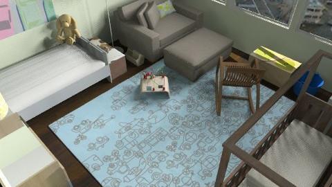 Downtown Kids Room - Modern - Kids room  - by lauren_murphy